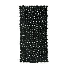 Pebble Design Rectangular PVC Bath Mat, Black