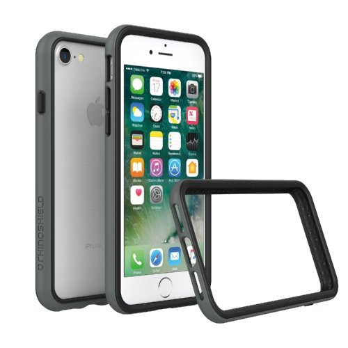 RhinoShield Bumper Case FOR IPHONE 8 / IPHONE 7 [NOT Plus] [CrashGuard] | Shock Absorbent Slim Design Protective Cover [3.5 M / 11ft Drop...