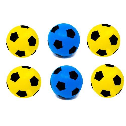 E-Deals 20cm Soft Foam Football - Pack of 3 Blue + 3 Yellow