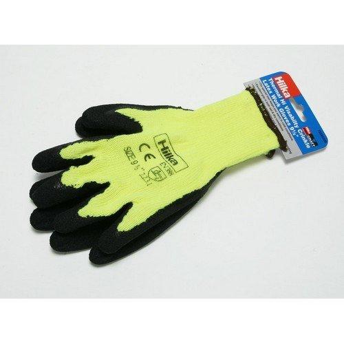 Hilka 75580009 Thermal Latex Hi Viz Gloves Size 9.5 Medium
